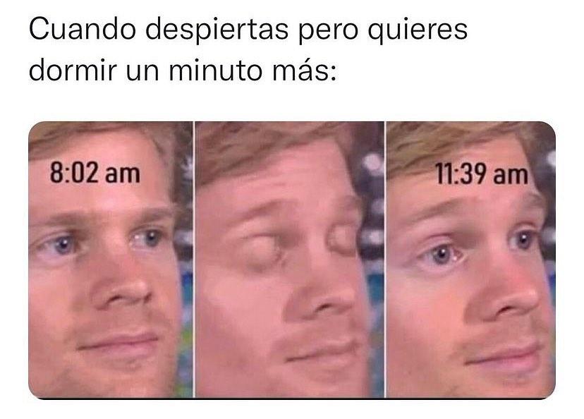 Cuando despiertas pero quieres dormir un minuto más: