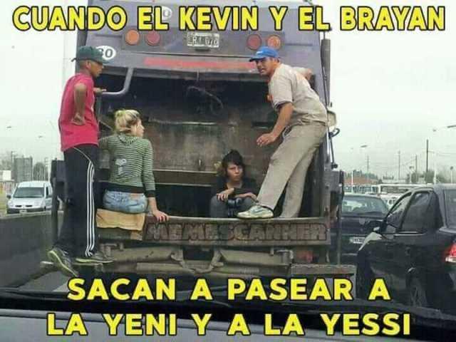 Cuando el Kevin y el Brayan sacan a pasear a la Yeni y a la Yessi.