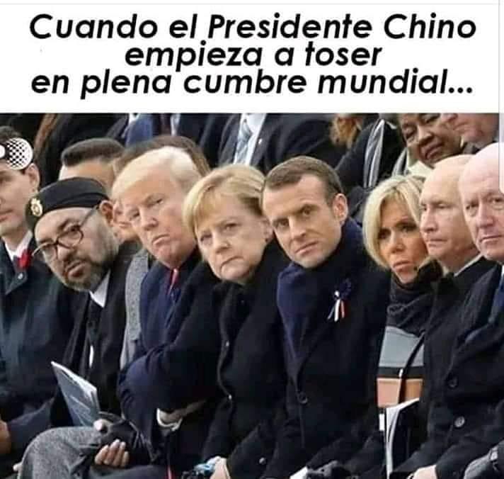 Cuando el Presidente Chino empieza a toser en plena cumbre mundial...