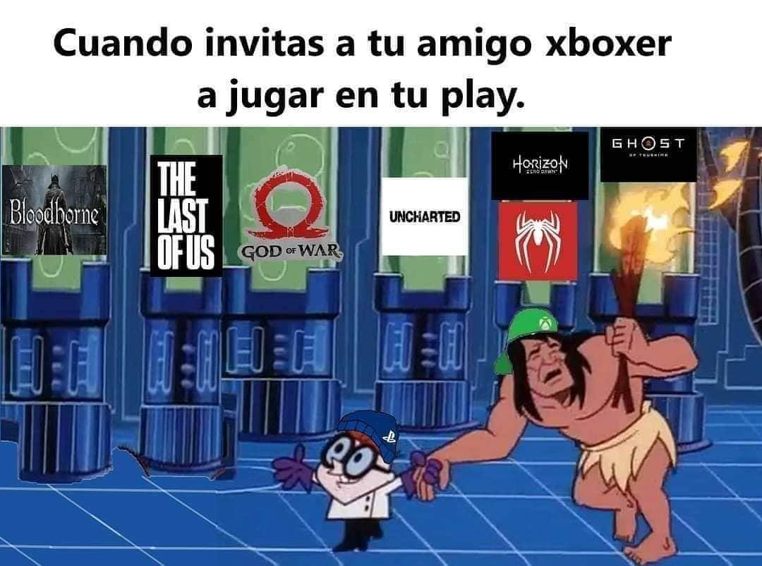 Cuando invitas a tu amigo xboxer a jugar en tu play.