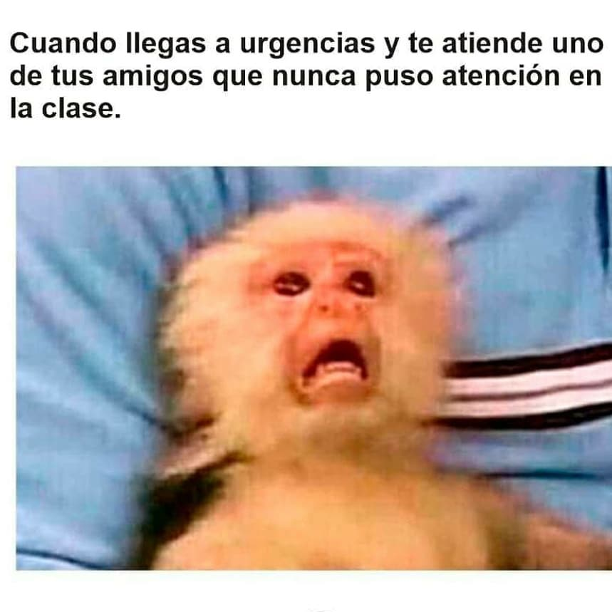 Cuando llegas a urgencias y te atiende uno de tus amigos que nunca puso atención en la clase.