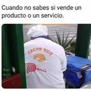 Cuando no sabes si vende un producto o un servicio.