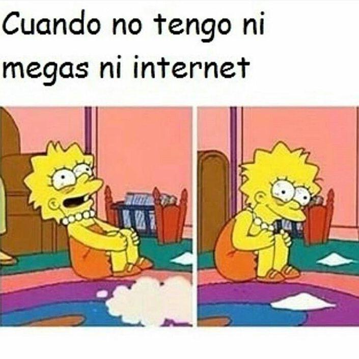 Cuando no tengo ni megas ni internet.