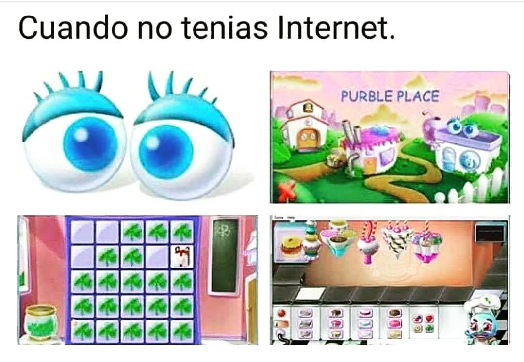 Cuando no tenías Internet.
