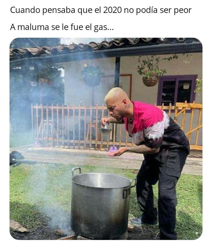 Cuando pensaba que el 2020 no podía ser peor. A Maluma se le fue el gas...
