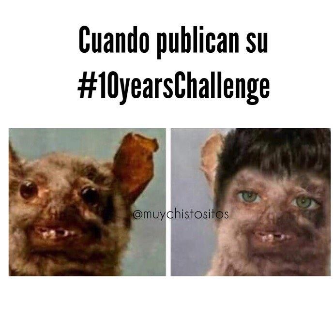 Cuando publican su #10yearsChallenge.