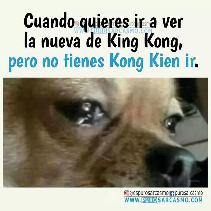 Cuando quieres ir a ver la nueva de King Kong, pero no tienes Kong Kien ir.