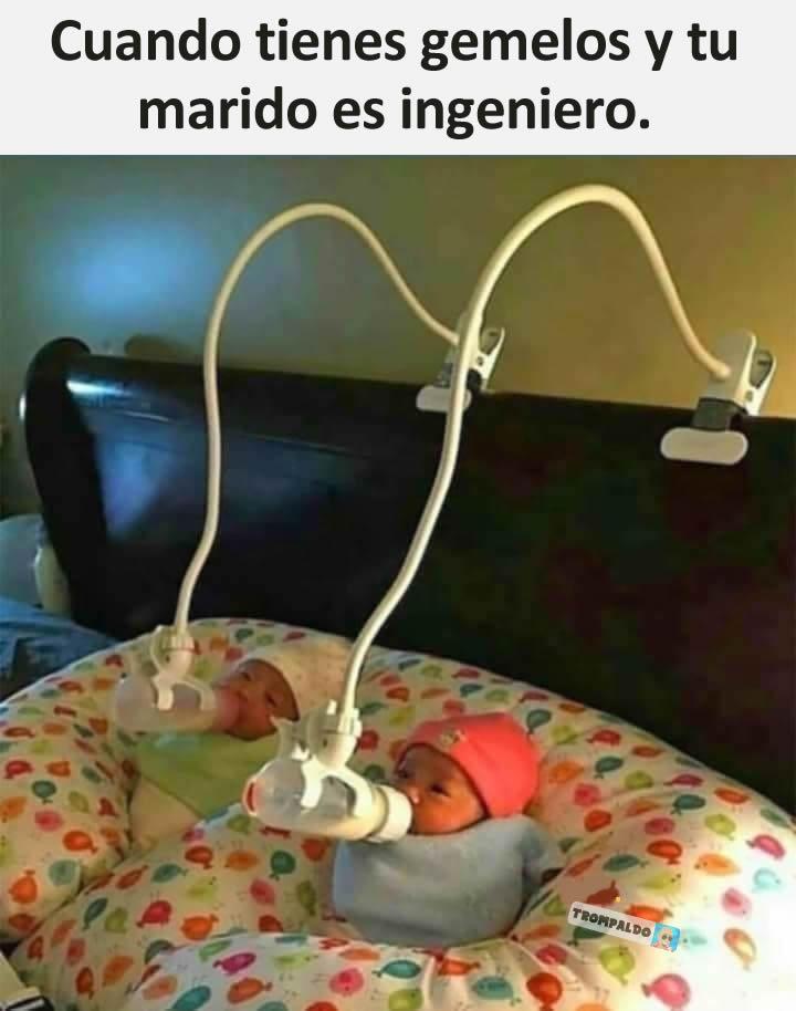 Cuando tienes gemelos y tu marido es ingeniero.