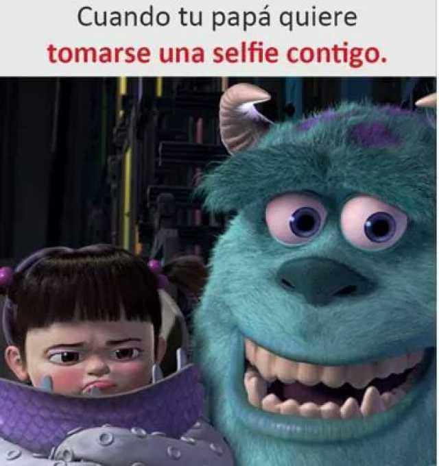 Cuando tu papá quiere tomarse una selfie contigo.