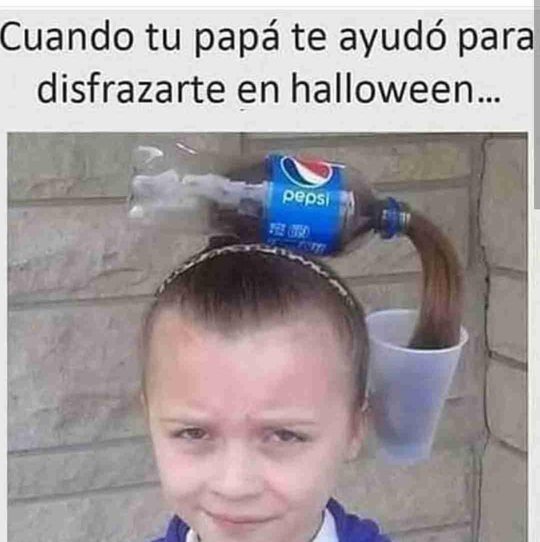 Cuando tu papá te ayudó para disfrazarte en Halloween...