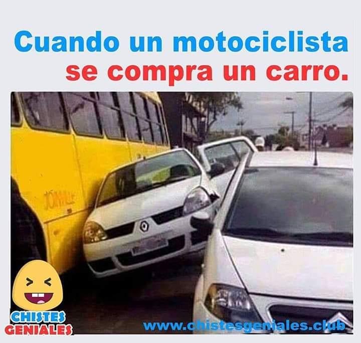 Cuando un motociclista se compra un carro.