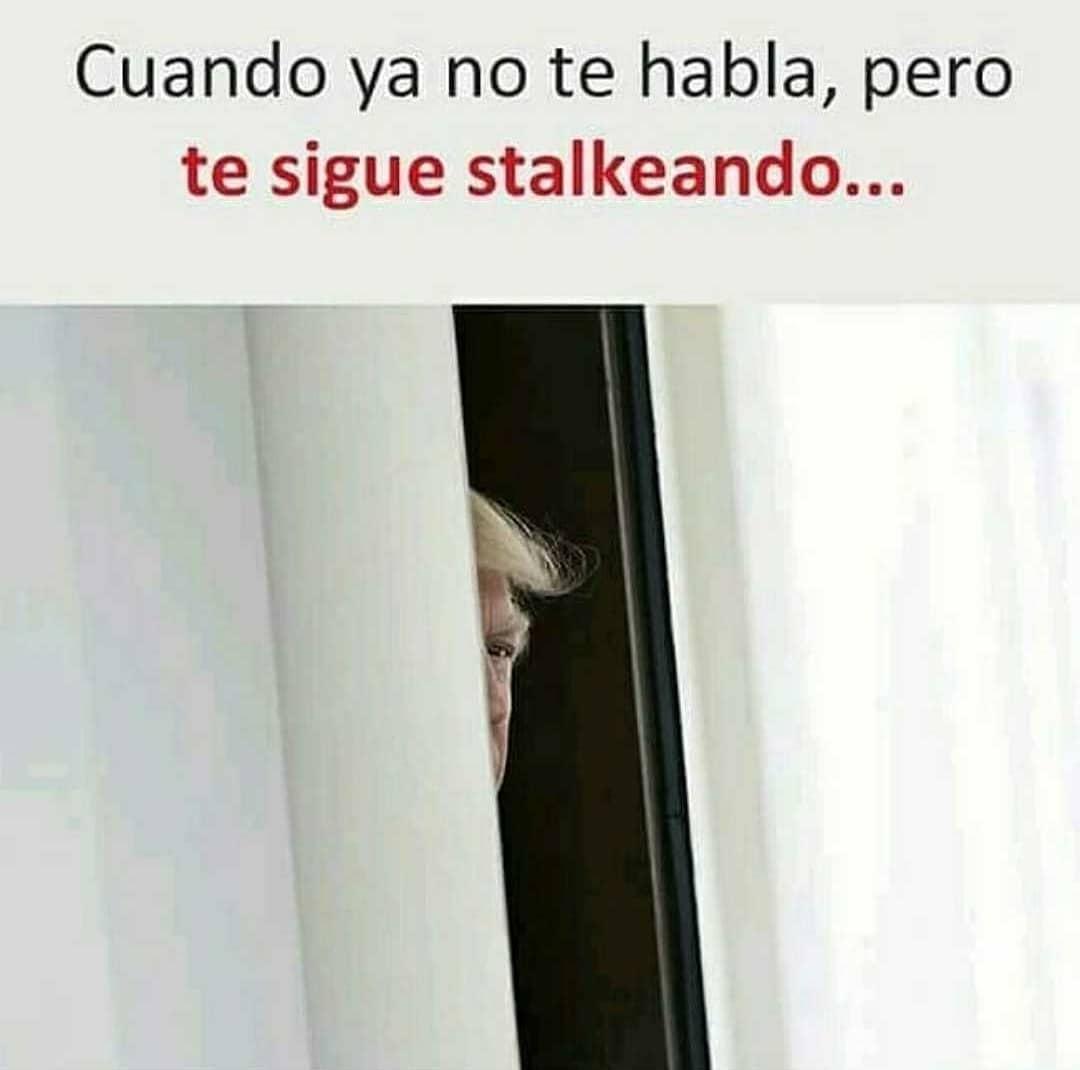 Cuando ya no te habla, pero te sigue stalkeando...