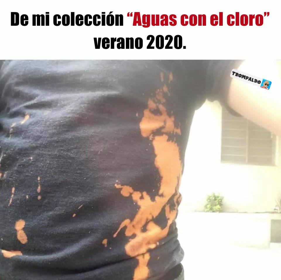 """De mi colección """"Aguas con el cloro"""" verano 2020."""