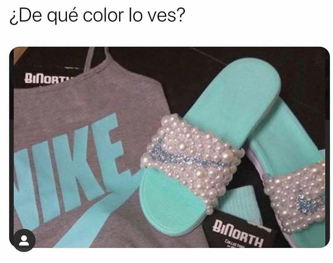 ¿De qué color lo ves?