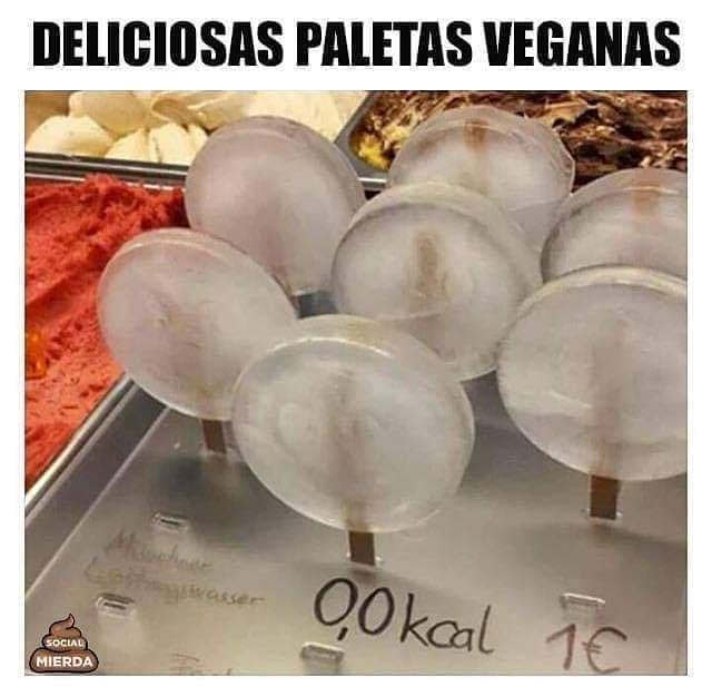 Deliciosas paletas veganas.