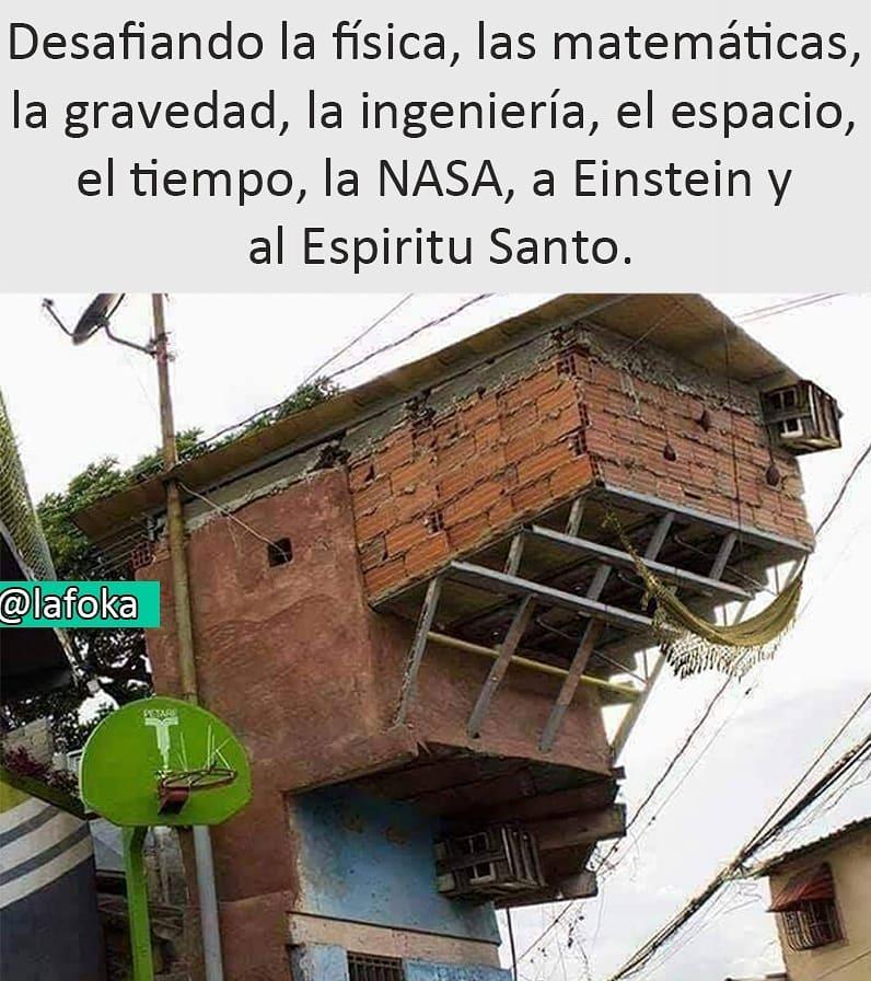 Desafiando la física, las matemáticas, la gravedad, la ingeniería, el espacio, el tiempo, la NASA, a Einstein y al Espiritu Santo.