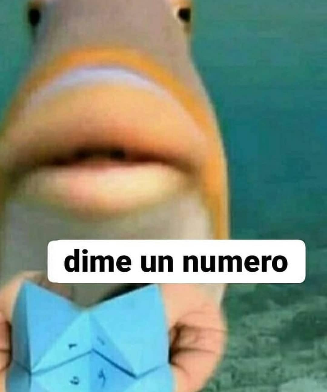 Dime un número.