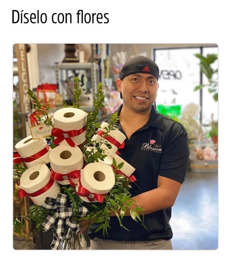 Díselo con flores.