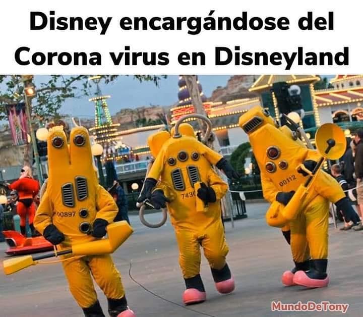 Disney encargándose del Corona virus en Disneyland.