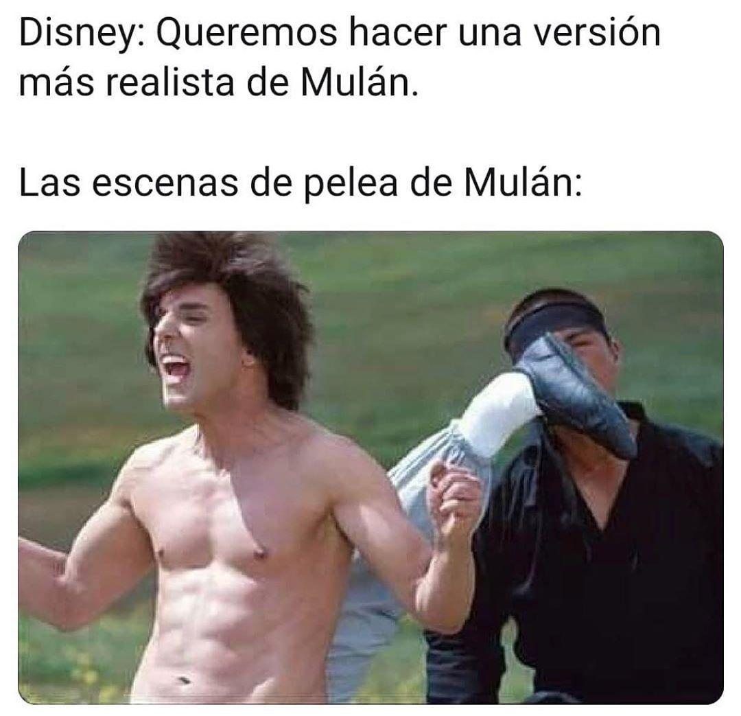 Disney: Queremos hacer una versión más realista de Mulán.  Las escenas de pelea de Mulán: