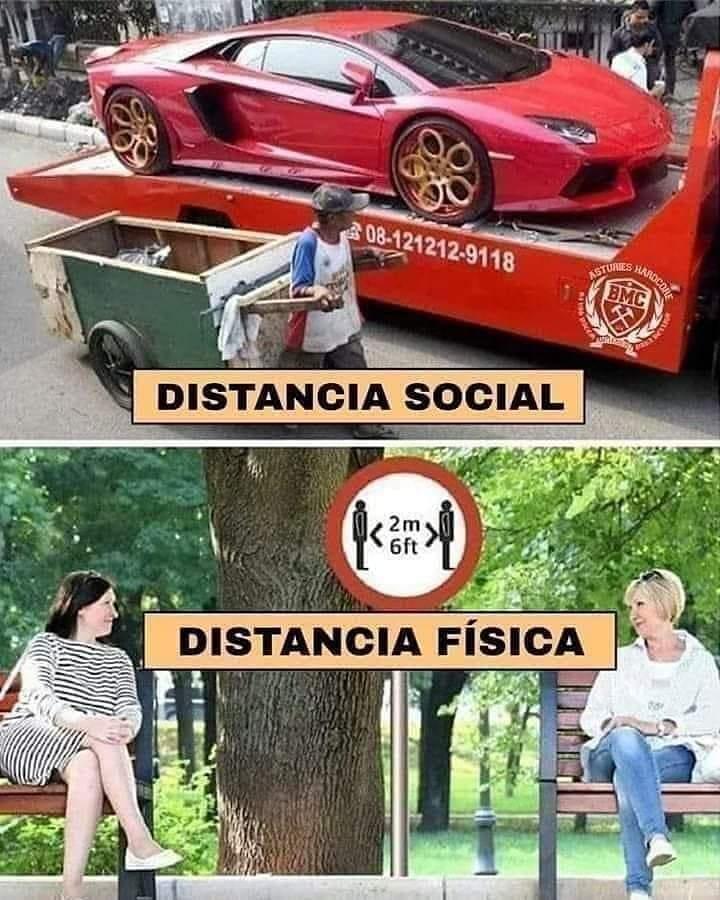 Distancia social. Distancia física.