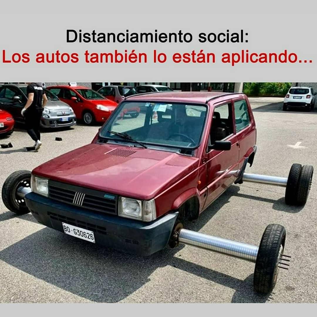 Distanciamiento social: Los autos también lo están aplicando...