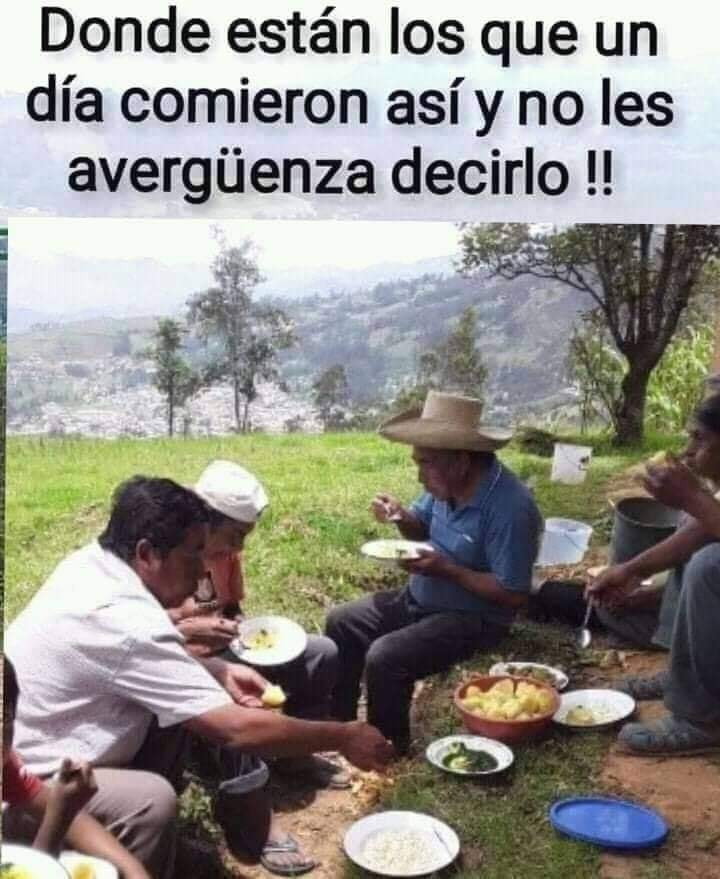 Donde están los que un día comieron así y no les avergüenza decirlo!!
