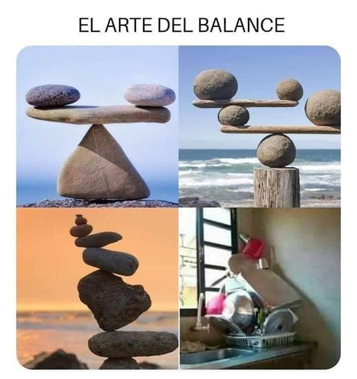 El arte del balance.