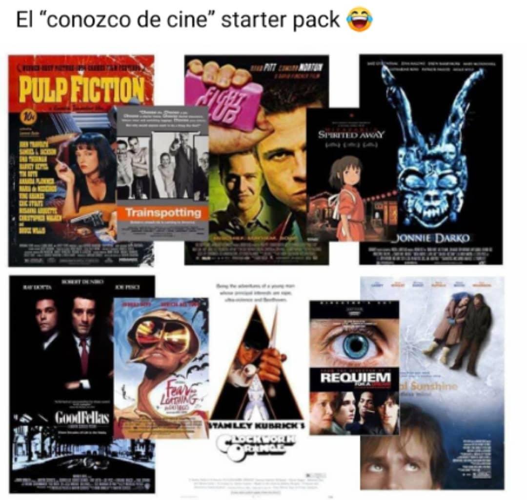 """El """"conozco de cine"""" starter pack."""