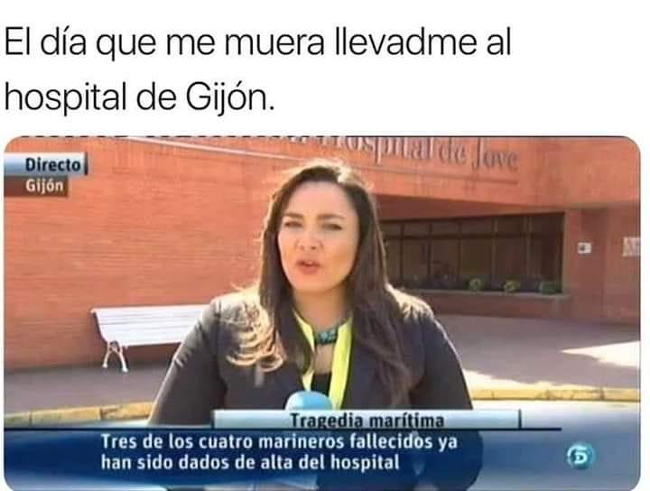 El día que me muera llevadme al hospital de Gijón.  Tres de los cuatro marineros fallecidos ya han sido dados de alta del hospital.