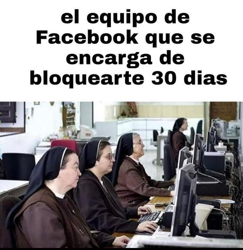 El equipo de Facebook que se encarga de bloquearte 30 días.