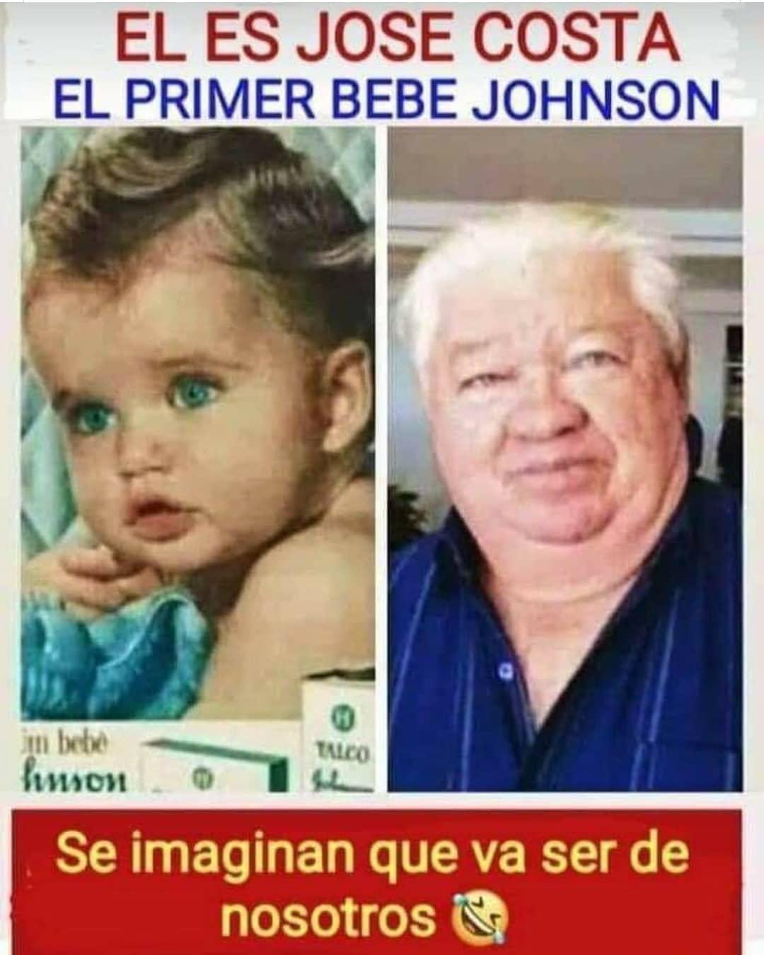 El es Jose Costa el primer bebe Johnson. Se imaginan que va ser de nosotros.