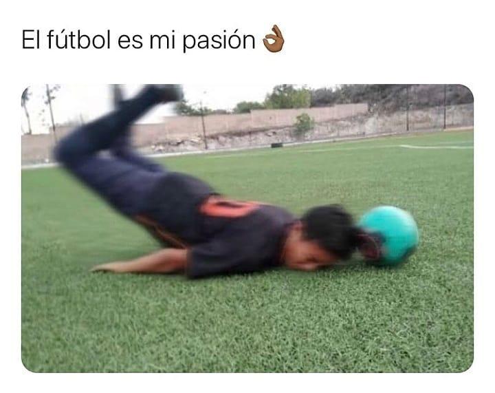 El fútbol es mi pasión.