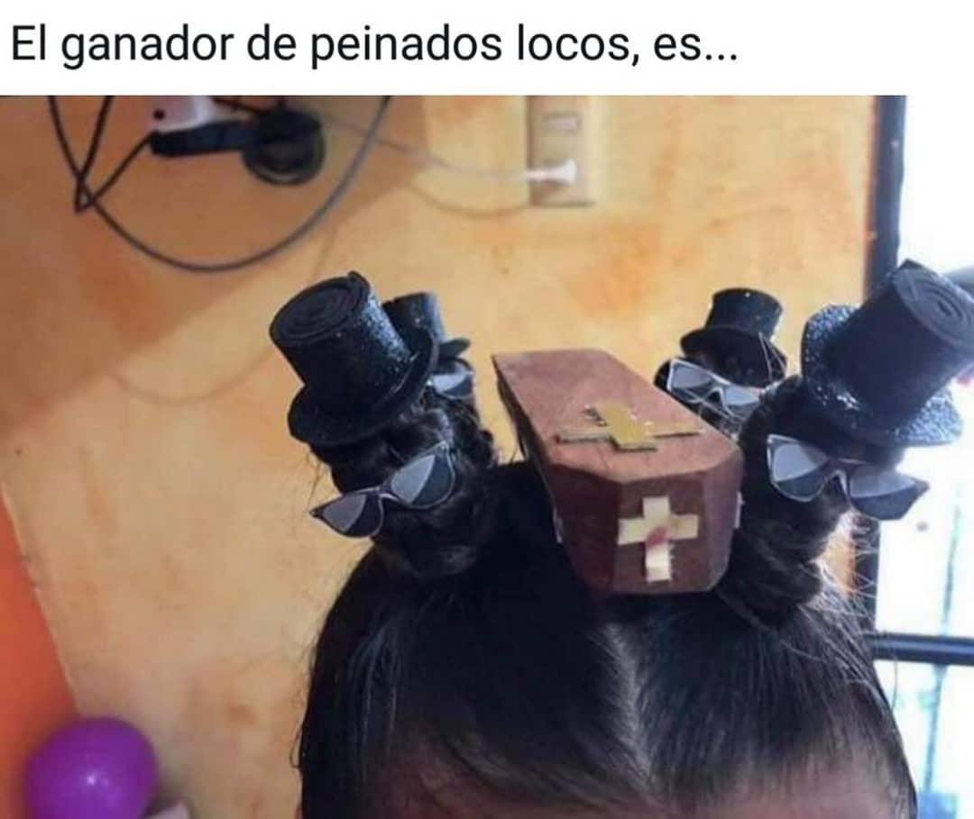 El ganador de peinados locos es...