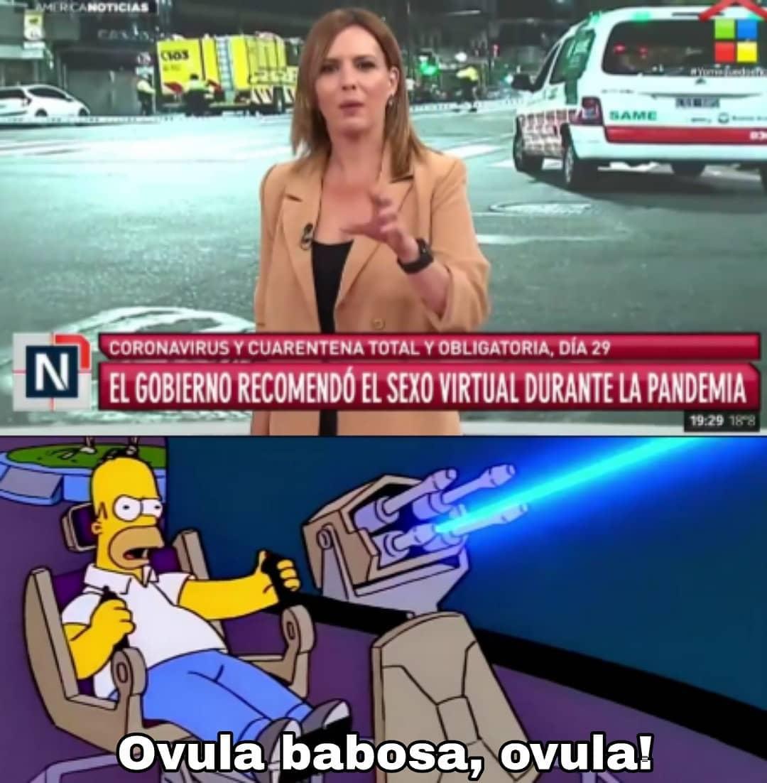 El gobierno recomendó el sexo durante la pandemia. Ovula babosa, ovula!