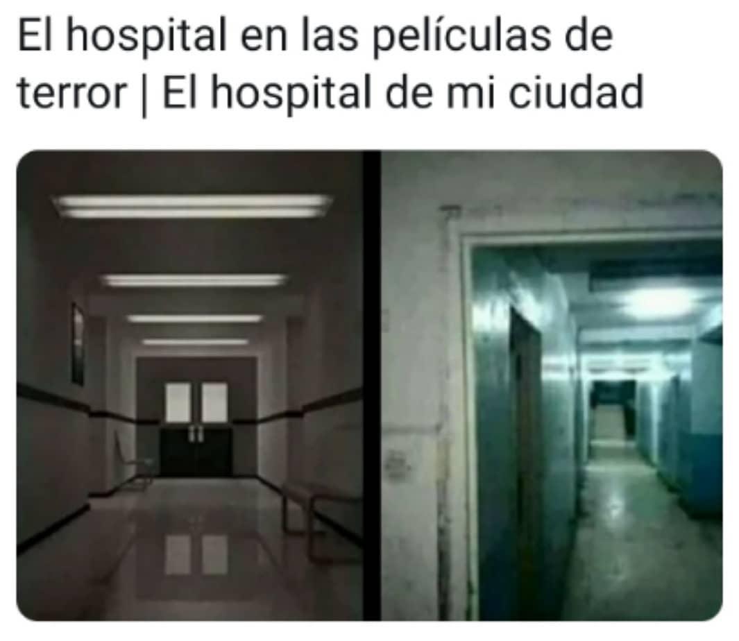 El hospital en las películas de terror. / El hospital de mi ciudad.