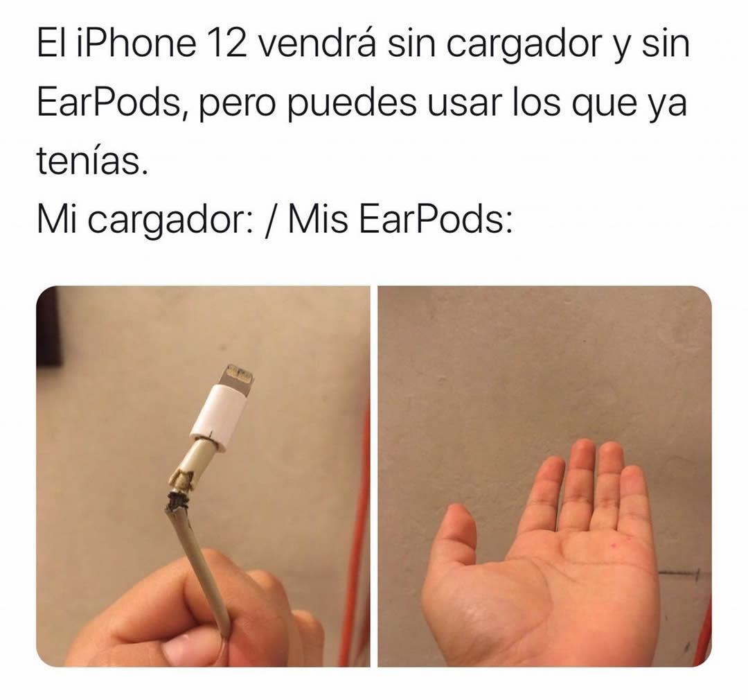 El iPhone 12 vendrá sin cargador y sin EarPods, pero puedes usar los que ya tenías.  Mi cargador: / Mis EarPods: