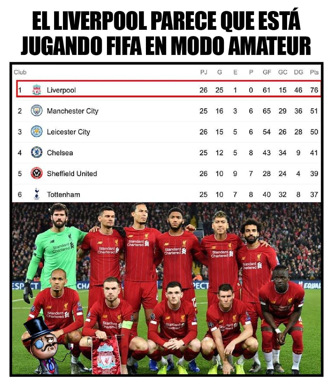 El Liverpool parece que está jugando Fifa en modo amateur.