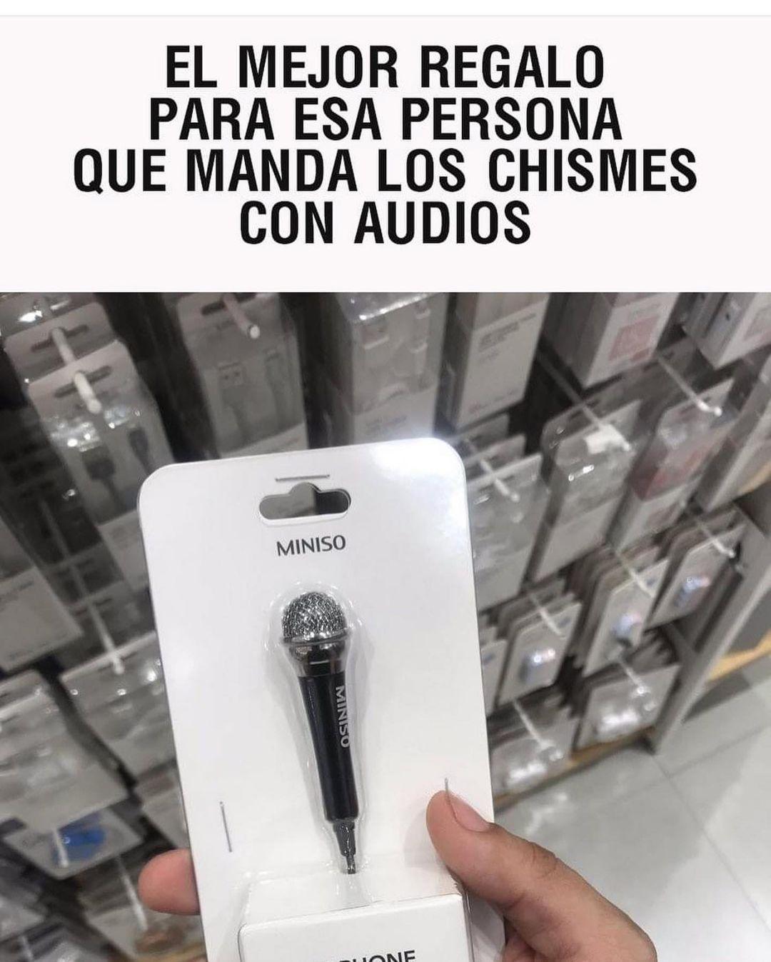 El mejor regalo para esa persona que manda los chismes con audios miniso.