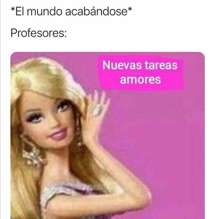*El mundo acabándose*  Profesores: Nuevas tareas amores.