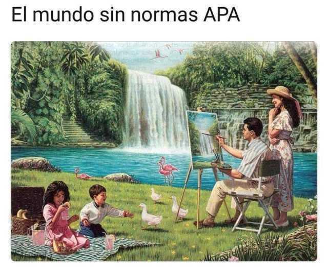 El mundo sin normas APA.