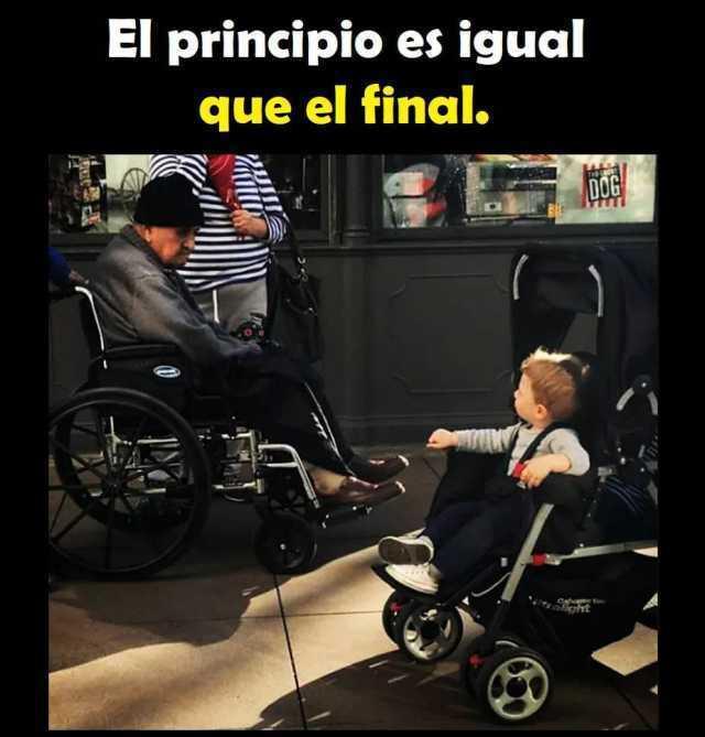 El principio es igual que el final.
