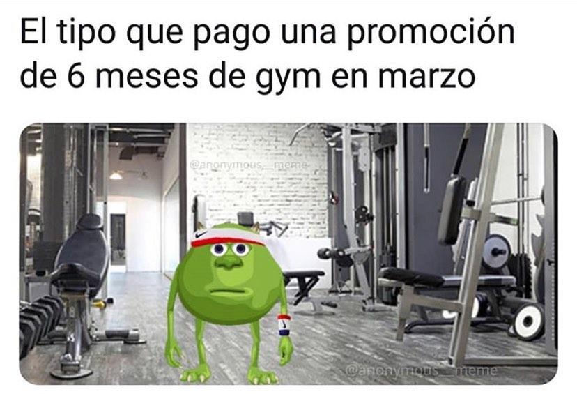 El tipo que pago una promoción de 6 meses de gym en marzo.