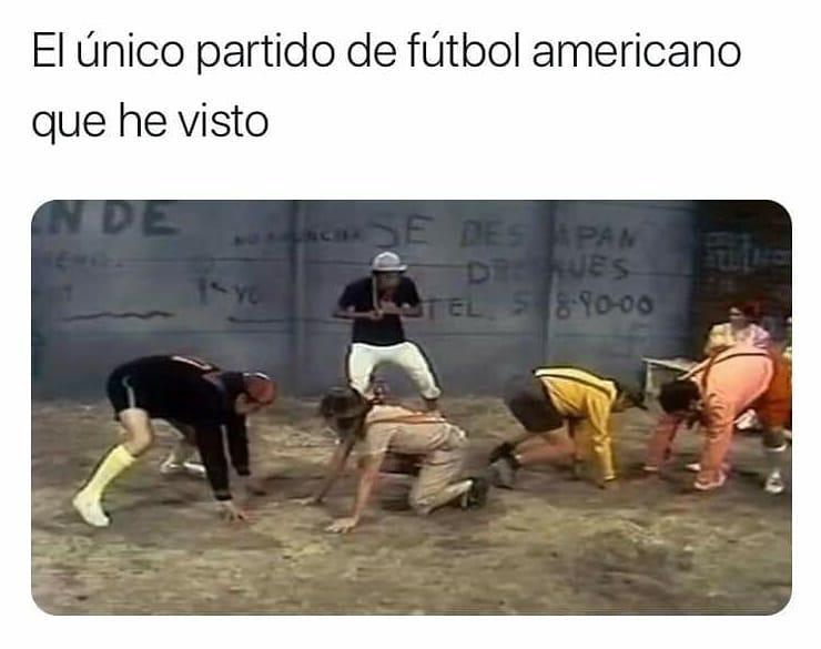 El único partido de fútbol americano que he visto.