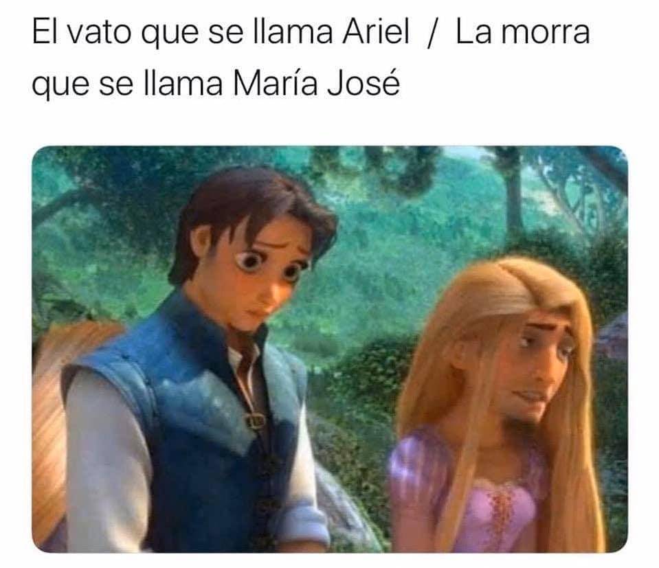 El vato que se llama Ariel. / La morra que se llama María José.