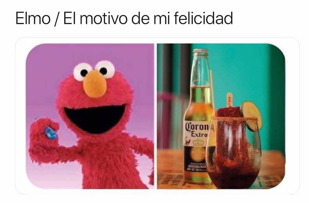 Elmo. / El motivo de mi felicidad.