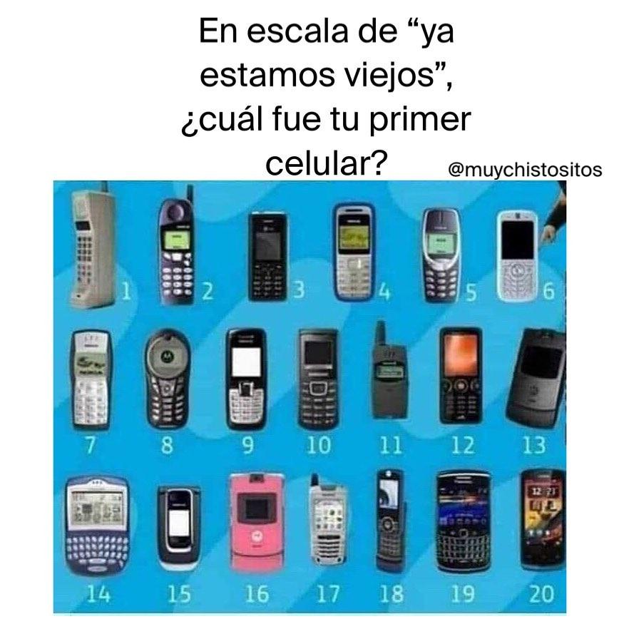 """En escala de """"ya estamos viejos"""", ¿cuál fue tu primer celular?"""