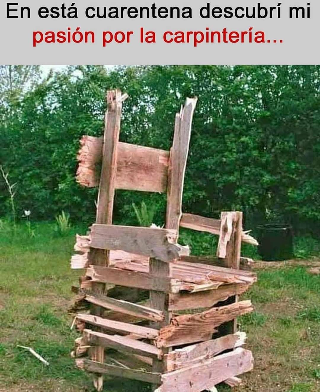 En esta cuarentena descubrí mi pasión por la carpintería...