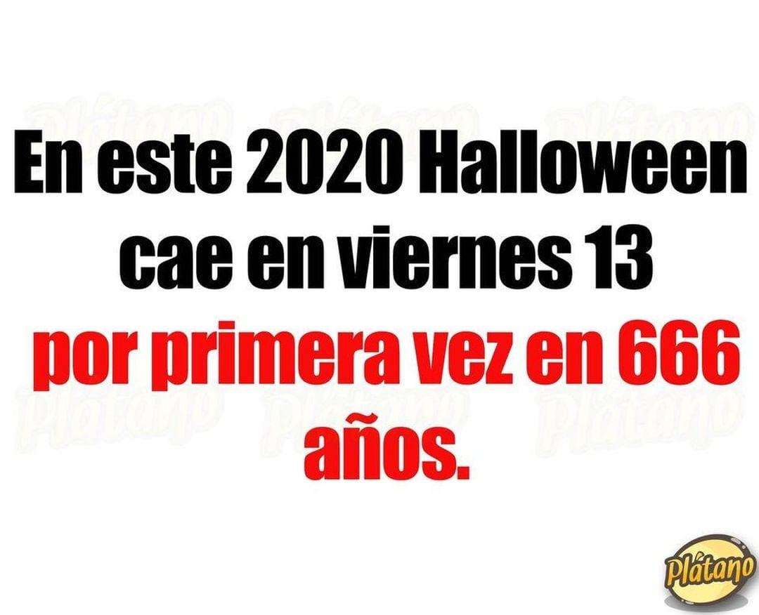 En este 2020 Halloween cae en viernes 13 por primera vez en 666 años.