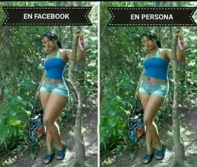 En Facebook. / En persona.
